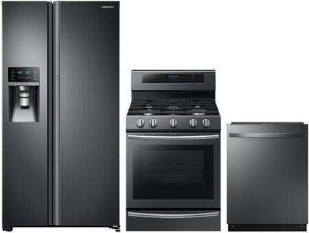 Samsung  1102749 Kitchen Appliance Package Black Stainless Steel, Main Image