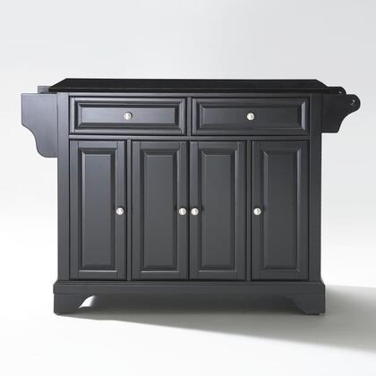 Lafayette Collection KF30004BBK Granite Top Island/Cart in Black