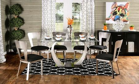 Furniture of America Nova CM3728T6SC Dining Room Set Multi Colored, main image