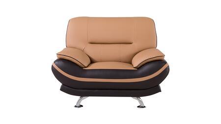 American Eagle Furniture AE709 AE709YOBRCHR Living Room Chair Brown, Main Image