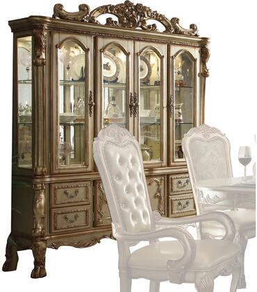 Acme Furniture Dresden 63155 China Cabinet Gold, China Cabinet