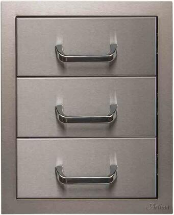 ARTP-3DR-17SC 17″ 3 Drawer with 304 Stainless Steel and Soft Close Ball Bearing Slides in Stainless