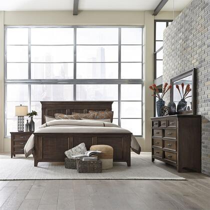 Liberty Furniture Saddlebrook 184BRKPBDMN Bedroom Set Brown, 184 br qpbdmn
