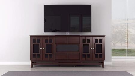 Furnitech  FT72ACW 52 in. and Up TV Stand Brown, main image