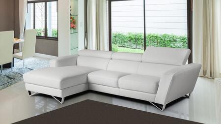 J and M Furniture Sparta Mini 17691121XHFCW Sectional Sofa White, 1