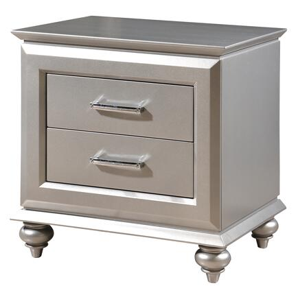 Cosmos Furniture ALIA 1075SIALI Nightstand Silver, DL 524eec424d2395387087b7a1291d