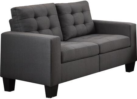 Acme Furniture Earsom 52771 Loveseat Gray, 1