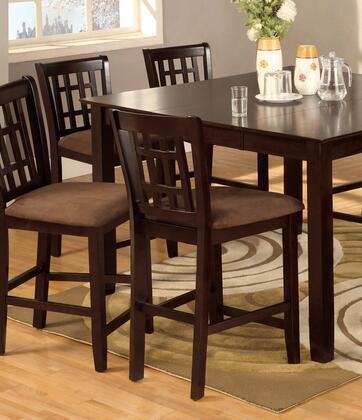 Furniture of America Eleanor CM3246PC2PK Bar Stool Brown, Main Image
