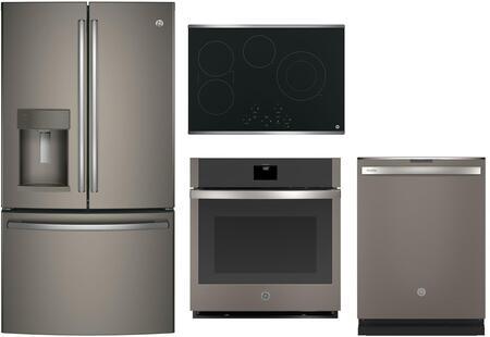 GE 742442 4 piece Slate Kitchen Appliances Package