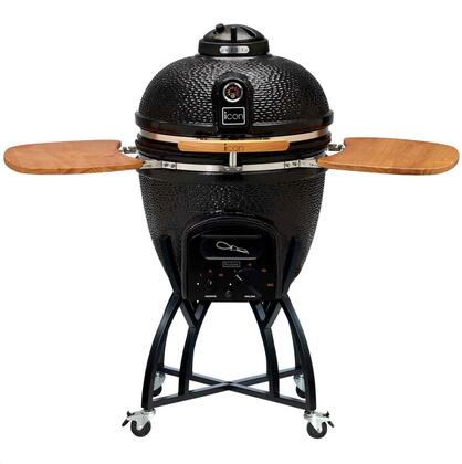 CG51BLACK C51 Series Standard Kamado on Cart with 604 sq. in. Cooking Surface  Cast Iron Top Vent  Color-Coded HeatZone Controls and Removable Ash