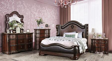 Furniture of America Arcturus CM7859EKBNCDM Bedroom Set Brown, CM7859EKB-NCDM