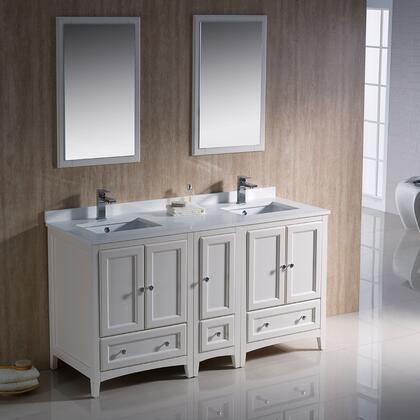 Fresca Oxford FVN20241224AW Sink Vanity White, Image 2