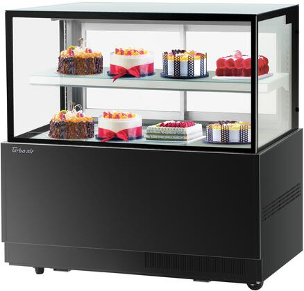 Turbo Air TBP6046NNB Display and Merchandising Refrigerator Black, TBP6046NNB Angled View