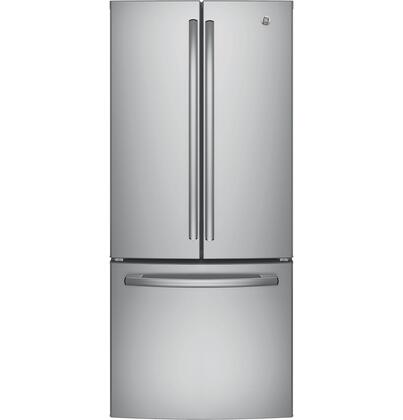 GE  GNE21FSKSS French Door Refrigerator Stainless Steel, Main Image