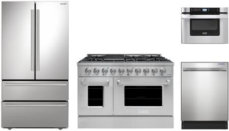 Appliances Connection Picks SHARP  1500653 Kitchen Appliance Package Stainless Steel, Main Image