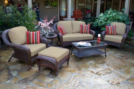 Tortuga Sea Pines FN21500JMONS Outdoor Patio Set Brown, FN21500JMONS Main Image
