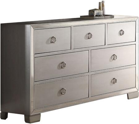 Acme Furniture Voeville II 24845 Dresser Silver, Angled View