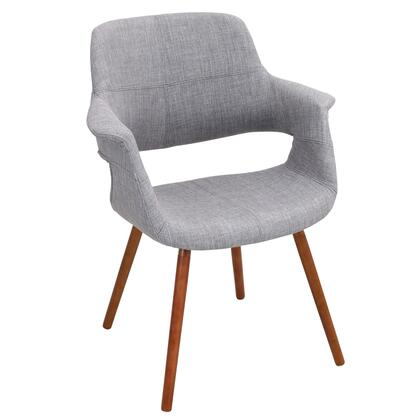 LumiSource Vintage Flair CHRJYVFLLGY Accent Chair Gray, CHR-JY-VFLLGY Side