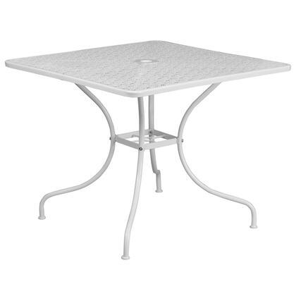 Flash Furniture  CO6WHGG Outdoor Patio Table White, CO6WHGG front
