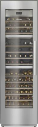KWT2611SF 24″ MasterCool Series Triple Zone Wine Column with Push2Open  FlexiFrame  BrillantLight LED  WiFiConn@ct  MasterSensor Touch Display  Left