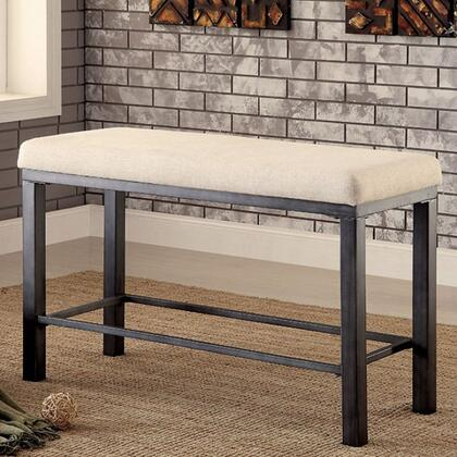 Furniture of America Jazlyn II CM3686PBN Bench, cm3686pbn