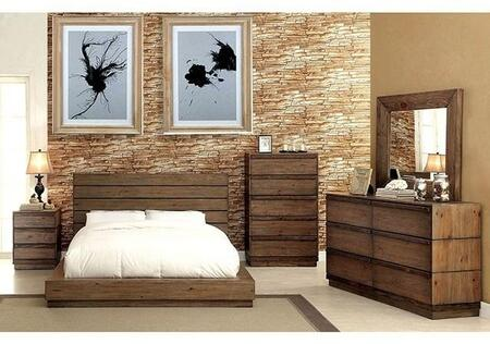 Furniture of America Coimbra CM7623CKBDMCN Bedroom Set Brown, Main Image