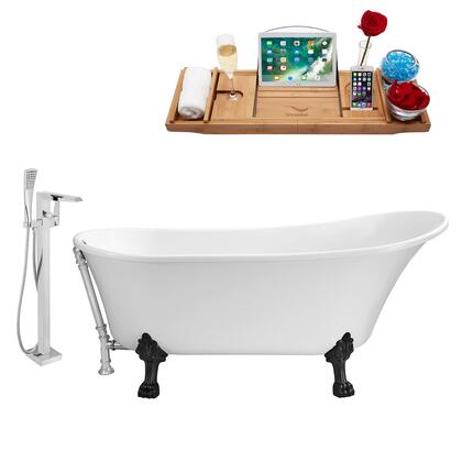 Streamline NH340BLCH100 Bath Tub, NH340BL CH 100 1T