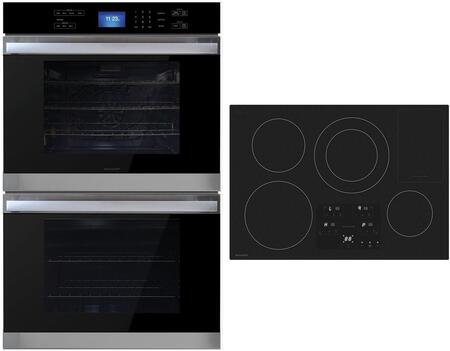 """2 Piece Kitchen Appliance Package with SDH3042DB 30"""" Electric Induction Cooktop and SWB3052DS 30"""" Electric Double Wall Oven in"""