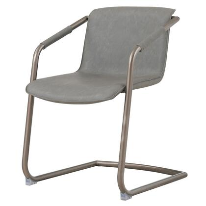 1060007-216 Indy PU Side Chair  Antique Graphite Grey  in Antique Graphite