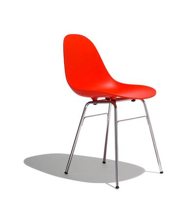 TA Collection TO-1711R-1502C Upholstered Side Chair/Er Base Chrome/Red