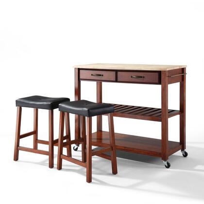 Crosley Furniture  KF300514CH Kitchen Cart Brown, KF300514CH W1