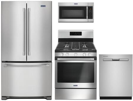 4 Piece Kitchen Appliances Package with MFC2062FEZ 36″ French Door Refrigerator  MGR6600FZ 30″ Gas Range  MDB8959SKZ 24″ Built In Fully Integrated