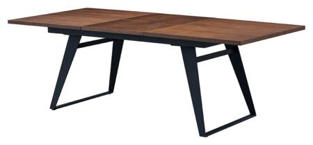 1518DININGTABLE 63″ to 87″ Dining Table with Extendable  Metal Base and Wood Veneer Top in