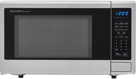Sharp SMC1132CS Countertop Microwave Stainless Steel, Main Image