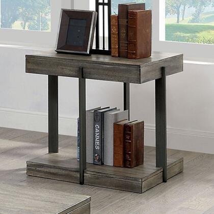 Furniture of America Tual CM4393E End Table Gray, cm4393e 1