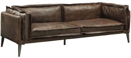 Acme Furniture Porchester 52480 Stationary Sofa Brown, Sofa