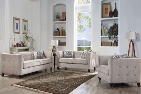 Acme Furniture Cyndi 520553SET Living Room Set Beige, 3 PC Set