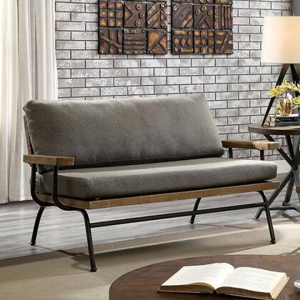 Furniture of America Santiago CM6077LV Loveseat Brown, cm6077 lv 1