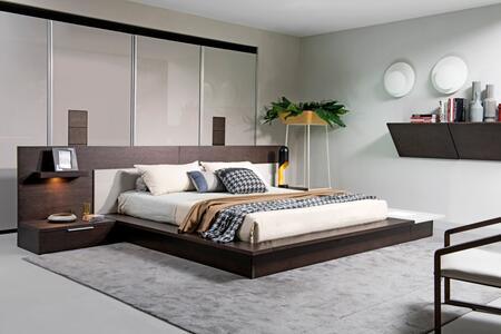 VIG Furniture Modrest Torino VGWCSBB03BRNGRY Bed Brown, 1