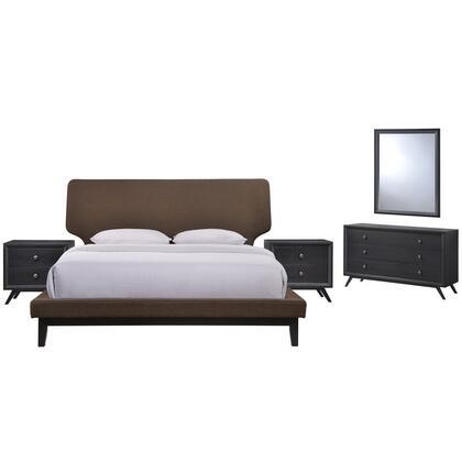 Modway Bethany MOD5337BLKBRNSET Bedroom Set Brown, MOD 5337 BLK BRN SET 1