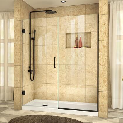 DreamLine SHDR24530721009 Shower Door, UnidoorPlus SD39 30D 30P SB 72 WM