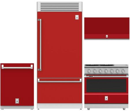 Hestan  963907 Kitchen Appliance Package Red, 1