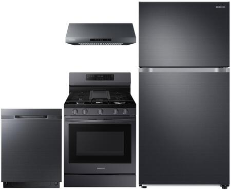 Samsung  1011437 Kitchen Appliance Package Black Stainless Steel, main image