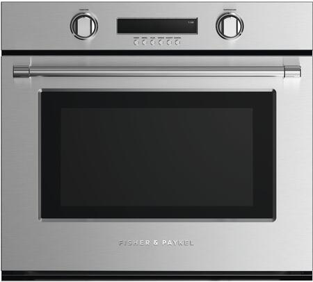 Fisher Paykel Professional WOSV230N Single Wall Oven Stainless Steel, Front view