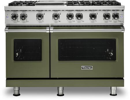 Viking 5 Series VGR5486GCYLP Freestanding Gas Range Green, VGR5486GCYLP Gas Range