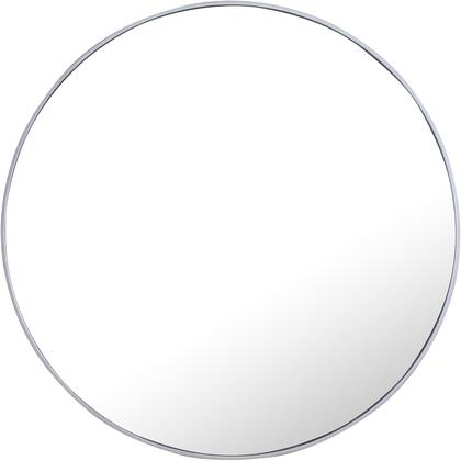 MR4046S Metal Frame Round Mirror 42″ Silver