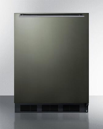 Summit  FF63BKBIKSHHADA Compact Refrigerator Black Stainless Steel, FF63BKBIKSHHADA Compact Refrigerator