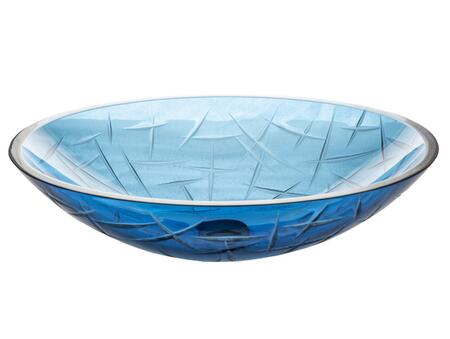EB_GS48 20″ Crystal Vessel Sink with Oval Shape  1 Year Limited Warranty and Tempered Glass in Blue