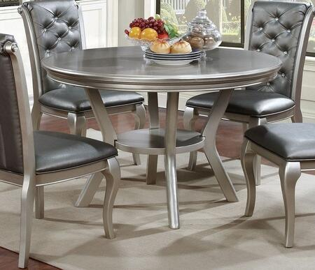 Furniture of America Amina CM3219RT Dining Room Table Silver, main image