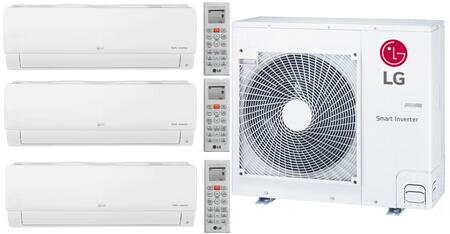 Lg Triple Zone Mini Split Air Conditioner System With 28000 Btu Cooling Capacity 3 Indoor Units And Outdoor Unit Appliances Connection